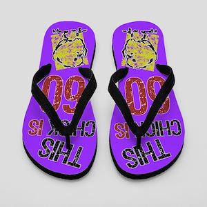 60th Birthday Chick Flip Flops
