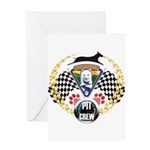 WooFDriver Pit Crew Greeting Cards