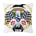 WooFDriver Pit Crew Woven Throw Pillow