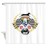 WooFDriver Pit Crew Shower Curtain