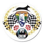 WooFDriver Pit Crew Round Car Magnet