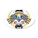 WooFDriver Pit Crew Oval Car Magnet