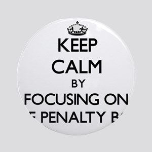Keep Calm by focusing on The Pena Ornament (Round)