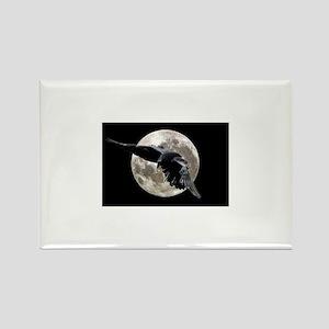 moon raven Magnets