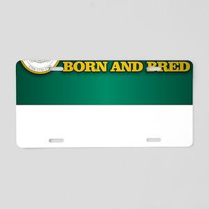 Delaware Born and Bred Aluminum License Plate