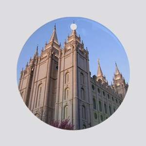 Salt Lake Temple Sunset Ornament (Round)