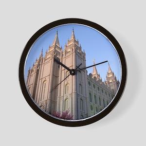 Salt Lake Temple Sunset Wall Clock