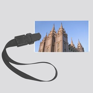 Salt Lake Temple Sunset Luggage Tag