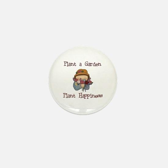 Plant Happiness Mini Button