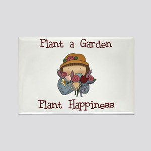 Plant Happiness Rectangle Magnet