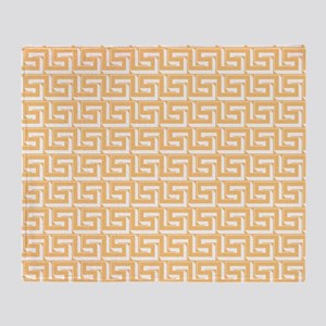 Elegant Yellow Greek Key Throw Blanket