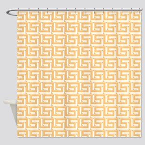 Elegant Yellow Greek Key Shower Curtain