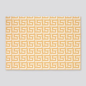 Elegant Yellow Greek Key 5'x7'Area Rug