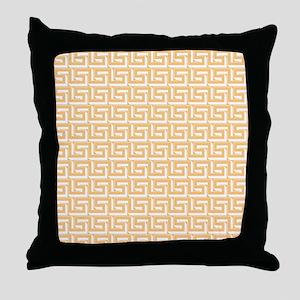 Elegant Yellow Greek Key Throw Pillow