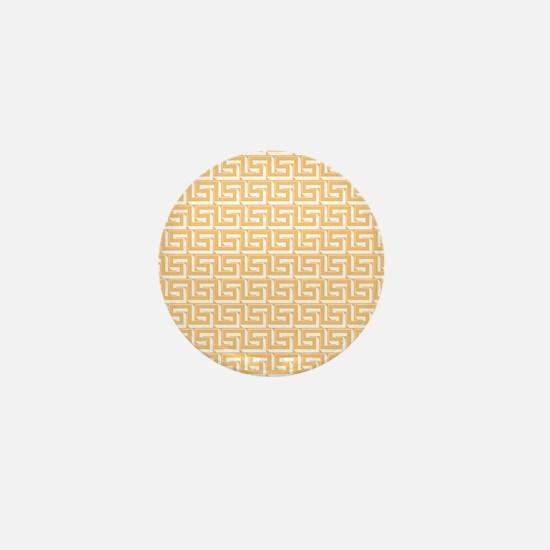 Yellow Greek Key Pattern Mini Button