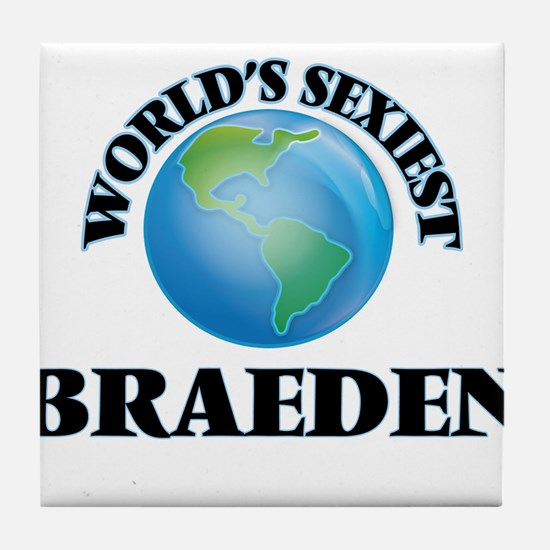 World's Sexiest Braeden Tile Coaster