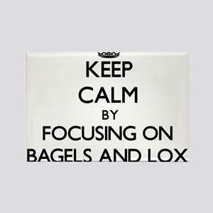 Keep Calm by focusing on Bagels And Lox Magnets