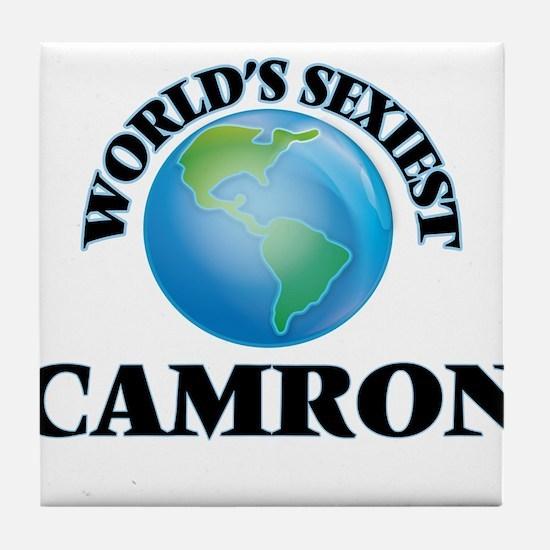 World's Sexiest Camron Tile Coaster
