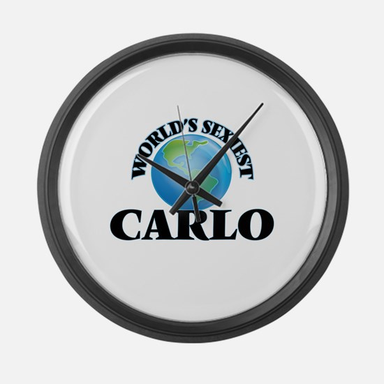 World's Sexiest Carlo Large Wall Clock