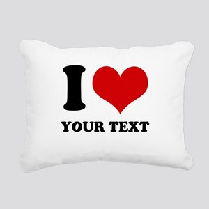 personalized I love Rectangular Canvas Pillow