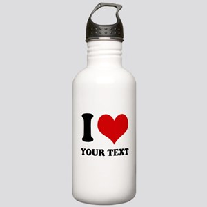 personalized I love Stainless Water Bottle 1.0L
