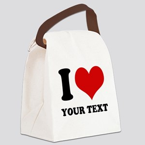 personalized I love Canvas Lunch Bag