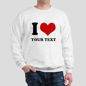 personalized I love Sweatshirt