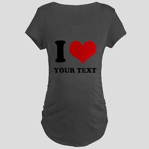 personalized I love Maternity Dark T-Shirt