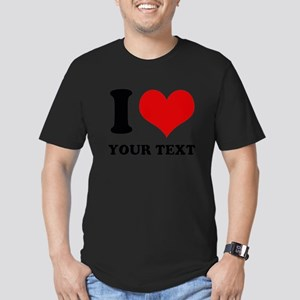 personalized I love Men's Fitted T-Shirt (dark)