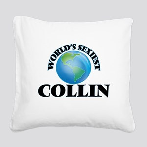 World's Sexiest Collin Square Canvas Pillow