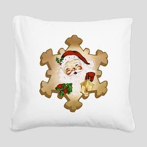Vintage Santa 2 Square Canvas Pillow