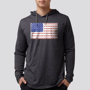 USA Patriotic Cat Flag Long Sleeve T-Shirt