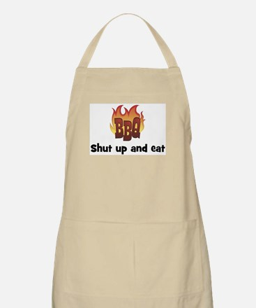 BBQ Fire: Shut up and eat BBQ Apron