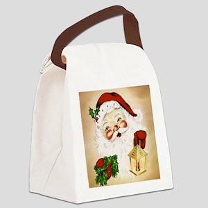 Vintage Santa 2 Canvas Lunch Bag