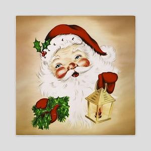 Vintage Santa 2 Queen Duvet
