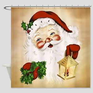 Vintage Santa 2 Shower Curtain