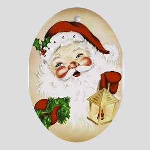 Vintage Santa 2 Ornament (Oval)