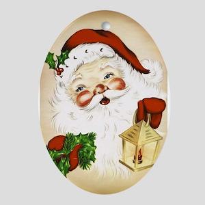 Vintage Santa 2 Ornament (Oval)