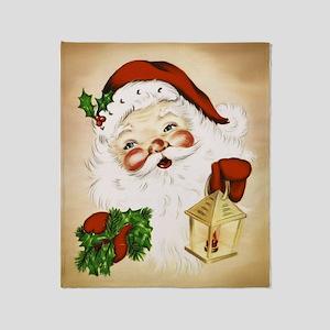 Vintage Santa 2 Throw Blanket