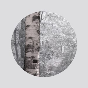 "Birch Tree In Forest 3.5"" Button"