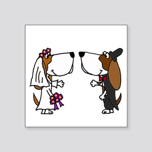 Basset Hound Wedding Sticker
