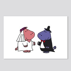 Hippo Wedding Postcards (Package of 8)