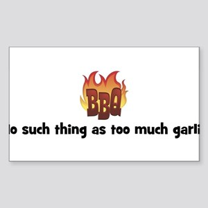 BBQ Fire: No such thing as to Sticker (Rectangular