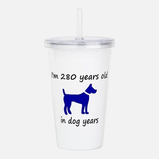 40 dog years blue dog 1C Acrylic Double-wall Tumbl