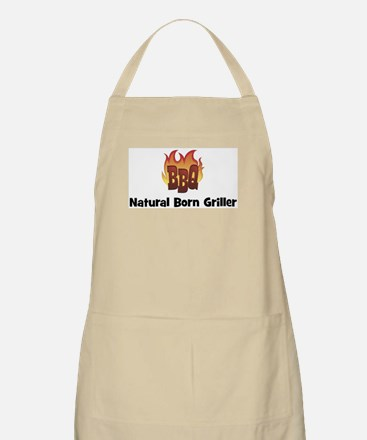 BBQ Fire: Natural Born Grille BBQ Apron