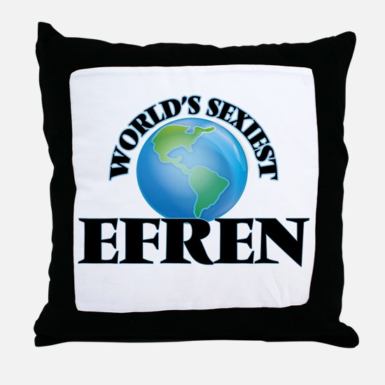 World's Sexiest Efren Throw Pillow