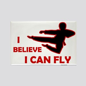 I Believe I Can Fly (Male) Rectangle Magnet