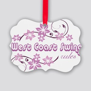 West Coast Swing Rules Picture Ornament