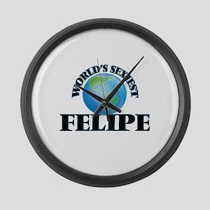 World's Sexiest Felipe Large Wall Clock