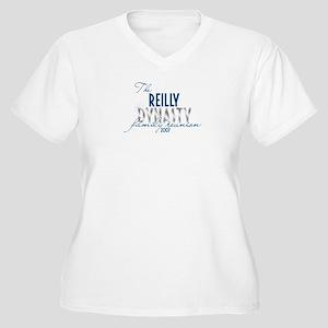 REILLY dynasty Women's Plus Size V-Neck T-Shirt